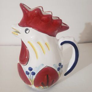 """Arte D Italia Ceramic Rooster Country Pitcher 8.5"""""""